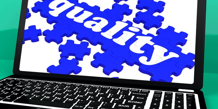 Quality Puzzle On Notebook Shows Website's Excellence And Online Services Warranty